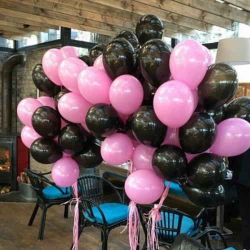 Черные и розовые шарики
