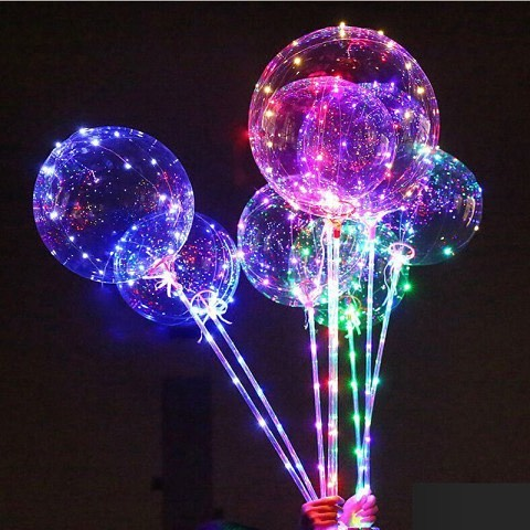 Композиция из светящихся шаров