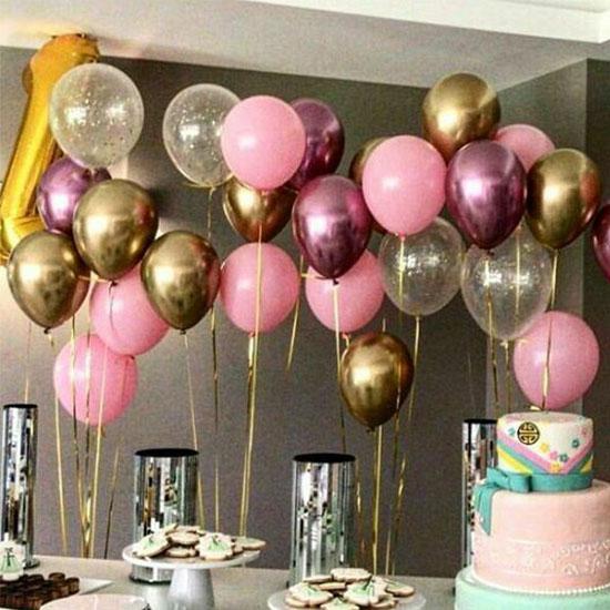Золотые и розовые шарики