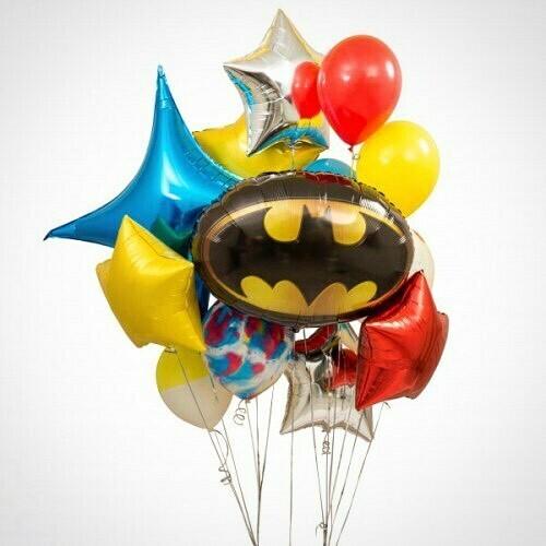 Облако шаров с Бэтменом