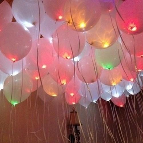 Светящиеся воздушные шары для украшения выпускного